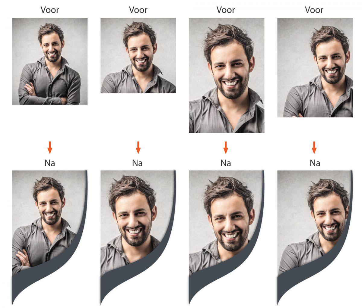 Bijsnijden foto cv format