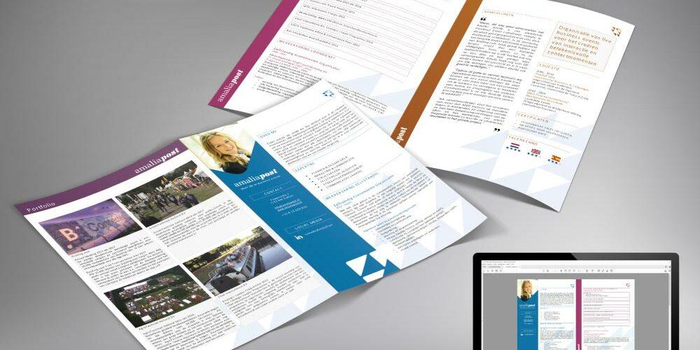 Ontworpen-zzp-portfolio-cv-voor-Amalia-Post